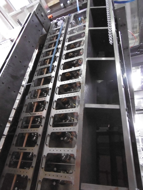 The SuperNEMO detector, closed and ready for cabling