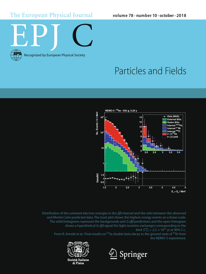 The EPJ C cover